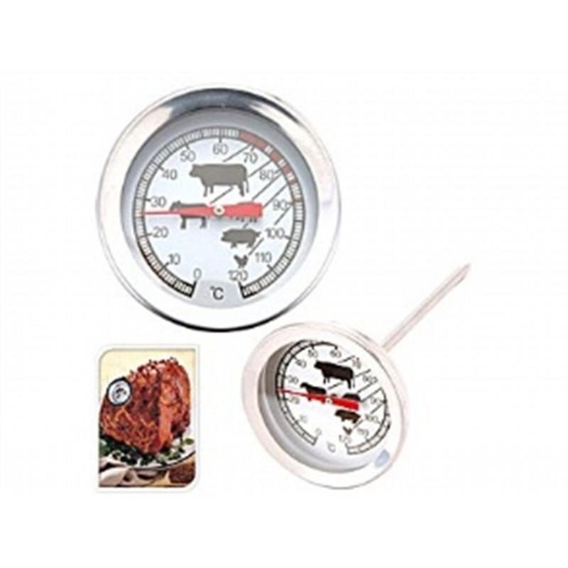 Термометр для мясаExcellent Houseware производит посуду и различные предметы для кухни и дома. Термометр для мяса - это замечательный аксессуар, помогающий любителям различных мясных блюд. Все мы знаем, что разные блюда должны иметь различную температуру готовности. С помощью этого несложного прибора вы всегда будете знать, готово ваше блюдо или еще нет.<br>