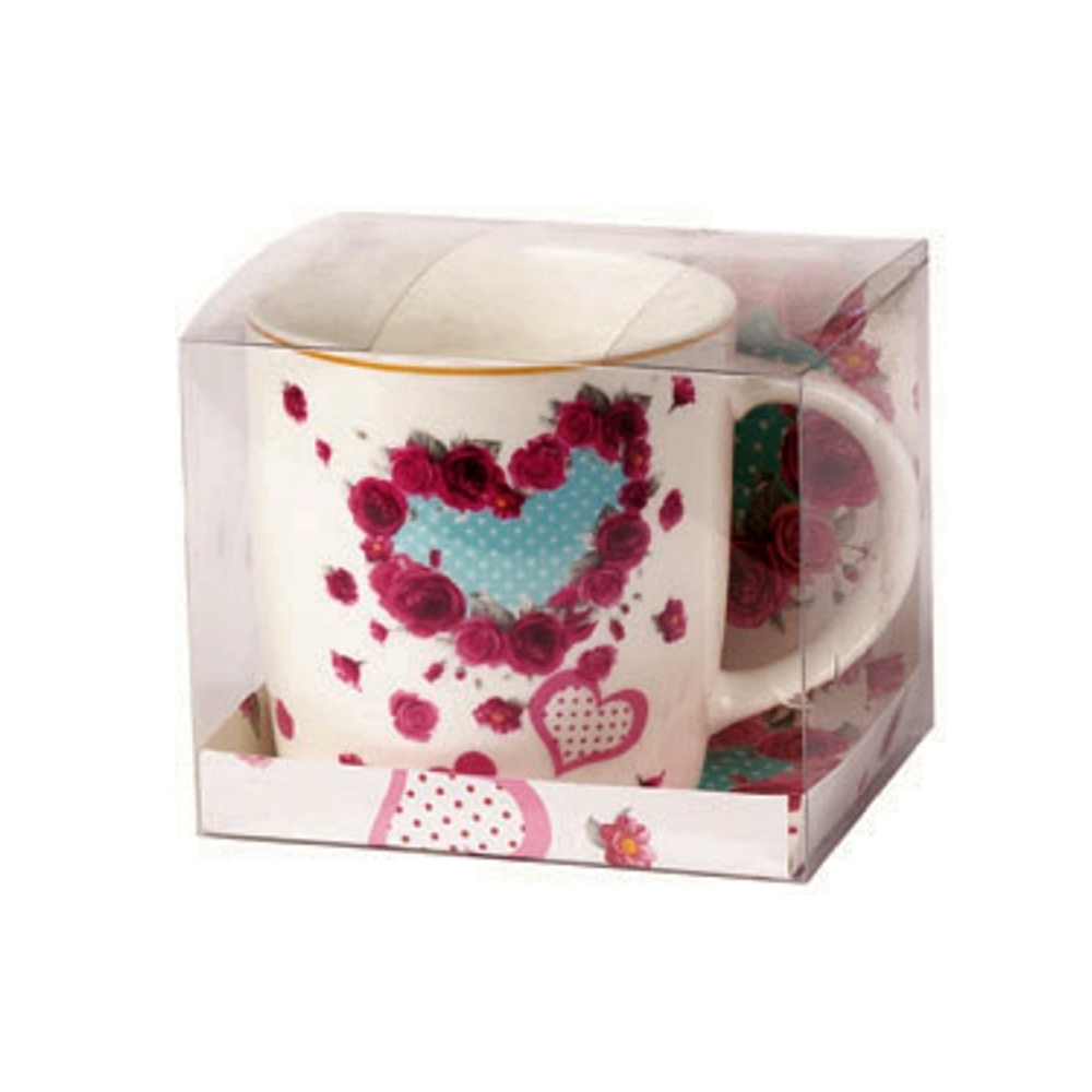 Кружка фарф 350мл бочка СердцеКружка  бочка Сердце 330 мл сделана из фарфора. Подходит для распития чая и других любых напитков.<br>