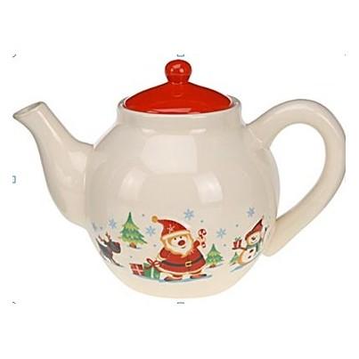 Чайник заварочный с рождественским декоромБренд Excellent Houseware дарит хозяйкам по всему миру качественную посуду и аксессуары для дома и кухни. Данный производитель зарекомендовал себя как надежного помощника, который никогда не подведет. Заварочный чайник в мягком бежевом цвете и новогодним дизайном создаст ощущение праздника даже в самый обычный день. Отличный дизайн, который подарит ощущение волшебства!<br>