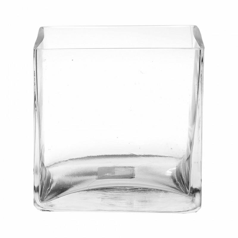 ВазаСтеклянная ваза в виде куба прекрасно подойдет для декора Вашего помещения.  Также будет отлично смотреться в качестве подсвечника.<br>