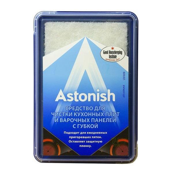 Средство для чистки кухонных плит и варочных панелей с губкой Astonish 250г
