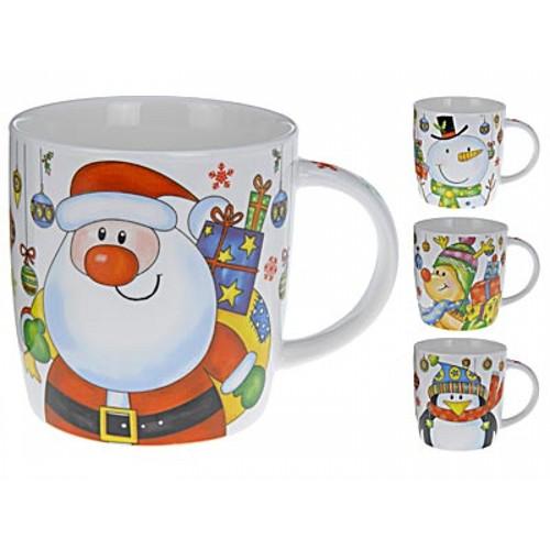 Кружка с рождественским декором 370мл в ассортиментеКружка станет отличным подарком на любой праздник. Оригинальный и яркий дизайн не оставит равнодушным не только ребенка, но и взрослого.  Цвет в  ассортименте, заранее выбрать цвет не предоставляется возможным.<br>
