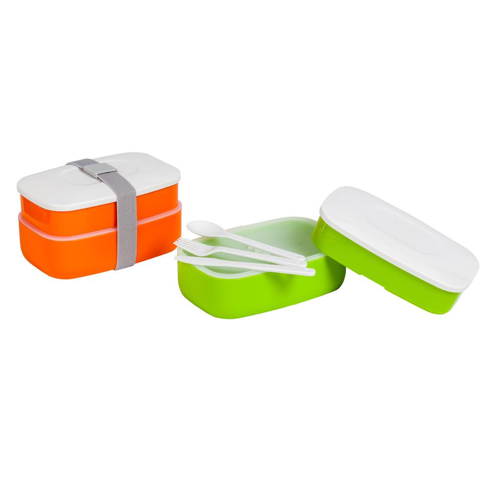 Ланч-боксЛанч-бокс от Magia Gusto удобен в использовании нашими детками и практичен для родителей. В два контейнера, герметично закрытых и перевязанных ремешком удобно складывать обед в поход или школу и так же удобно и легко мыть.<br>