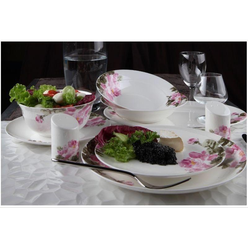 Сервиз столовый Дикая роза арт 440 на 27 предмКостяной фарфор Royal Aurel отличается повышенной прочностью и стойкостью к истираниям. Подойдет как для ценителей классического, так и современного дизайна.<br>