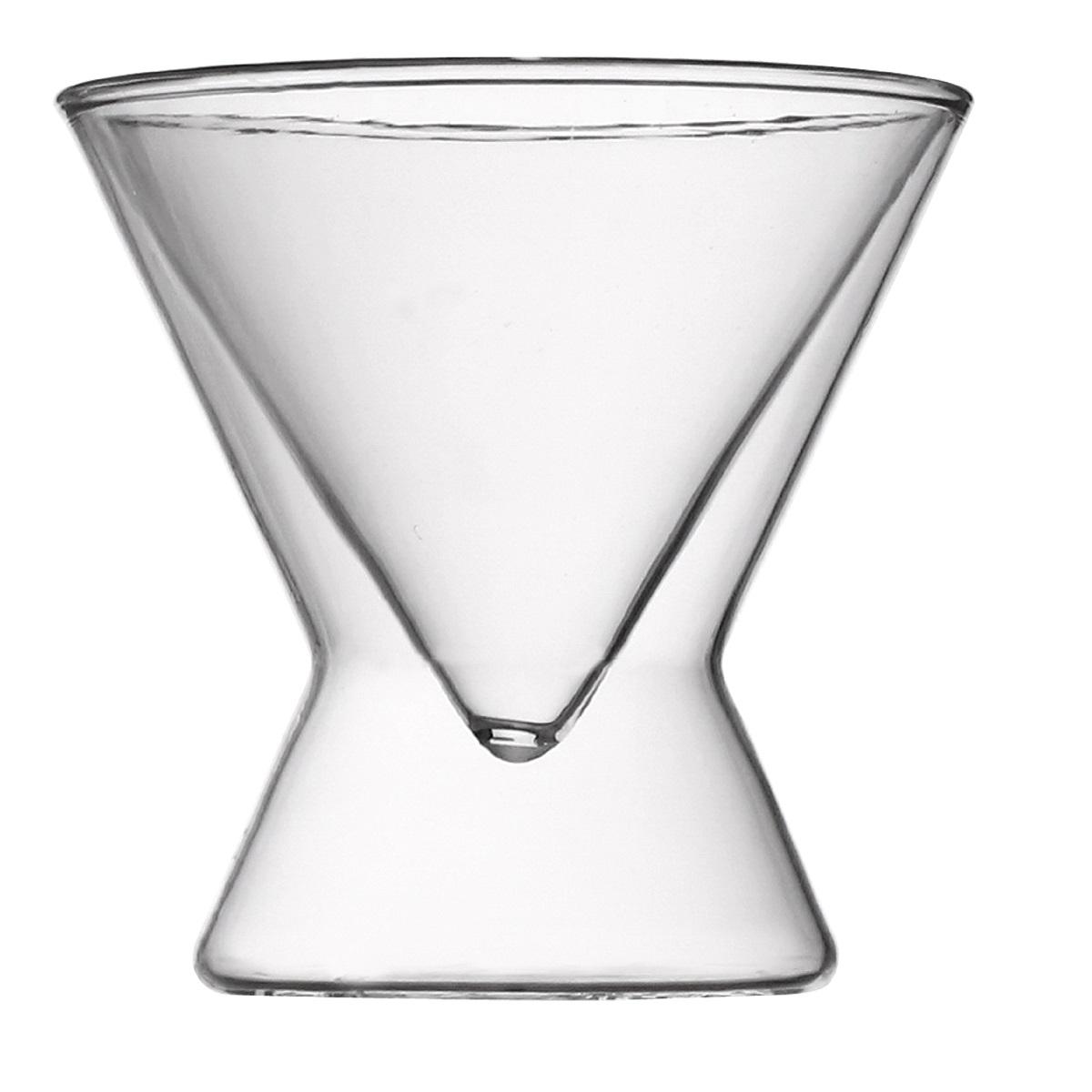 Набор из 2-х стаканов с двойными стенками 180 мл, 11,5*11,4 смПодходит для использования в  посудомоечной машине. Не использовать в СВЧ печи,духовом шкафу.<br>