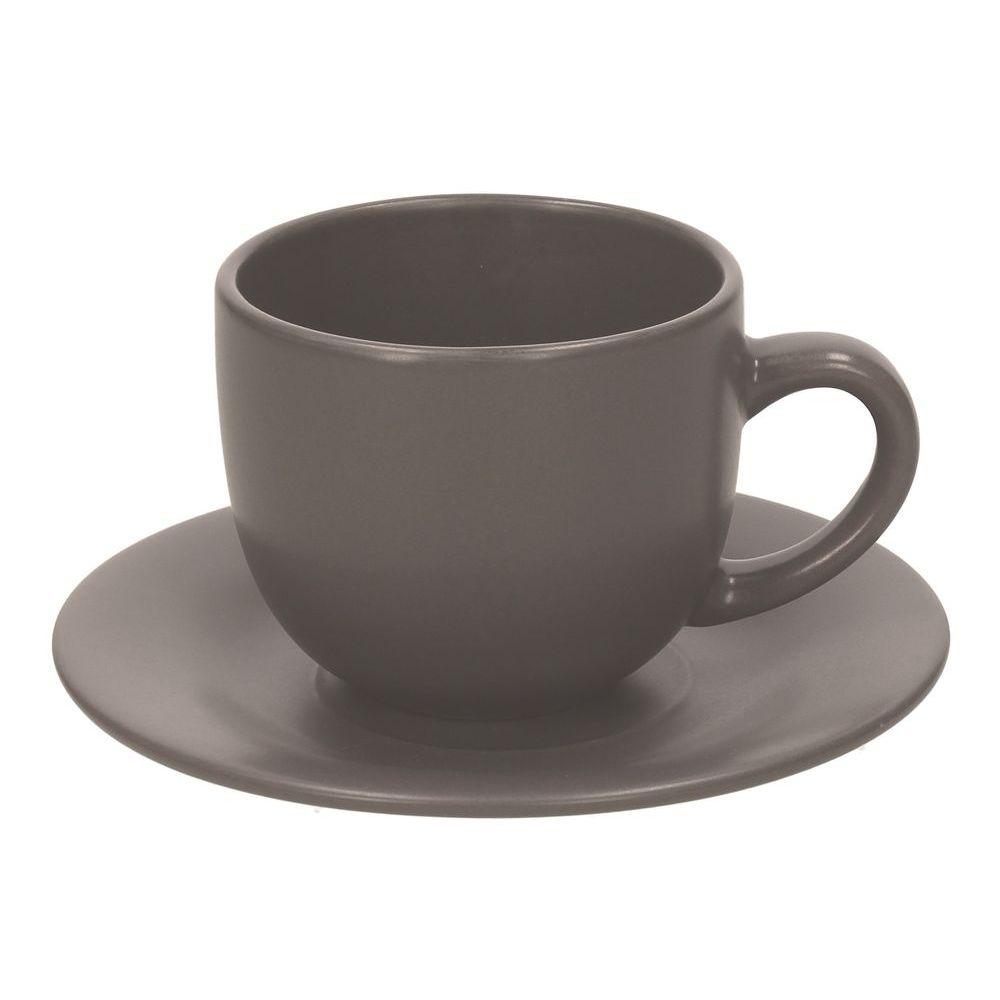 Набор чашек чайных 250 мл 6 шт RUSTICAL ANTRACITE MATTНабор чашек чайных 250 мл 6 шт RUSTICAL ANTRACITE MATT<br>
