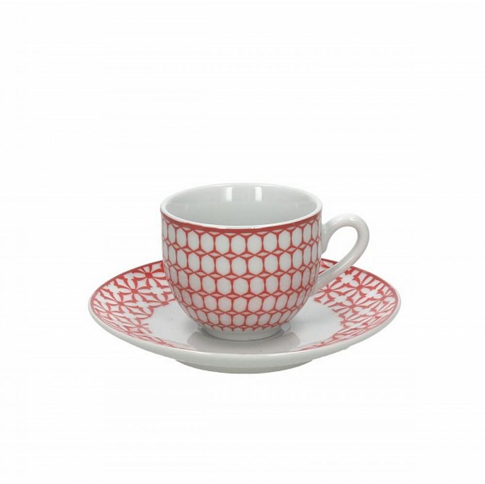 Набор чашек с блюдцами кофейные KUBIK ROЧашка с блюдцем сделана из высококачественного фарфора. Благодаря ее оригинальному дизайну, она станет отличным подарком на любой праздник вашим друзья или близким. Коллекционеры посуды и настоящие ценители по достоинству оценят этот набор. Набор рассчитан на 6 персон.<br>