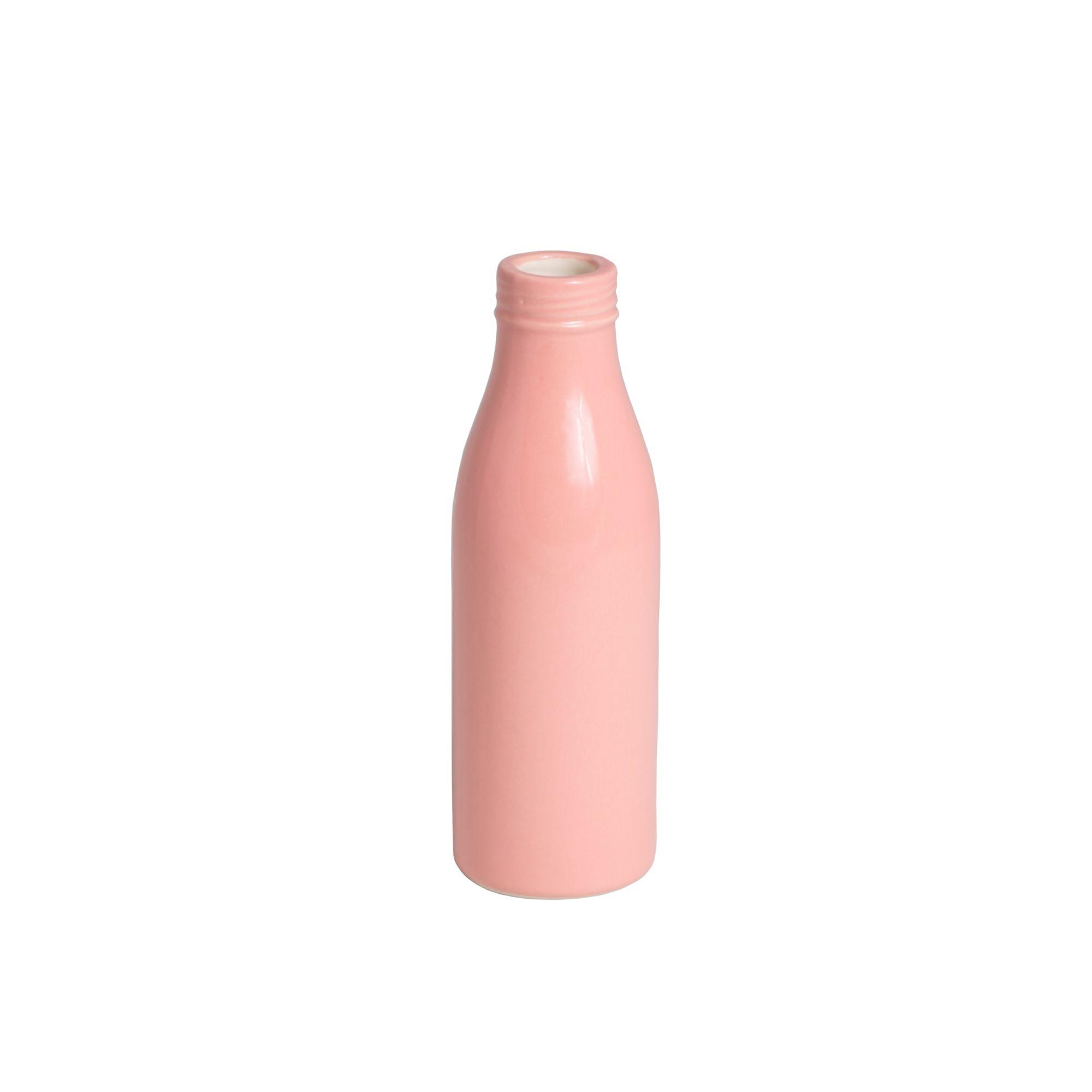 Ваза-бутылка больш.0,5л Розовый<br>