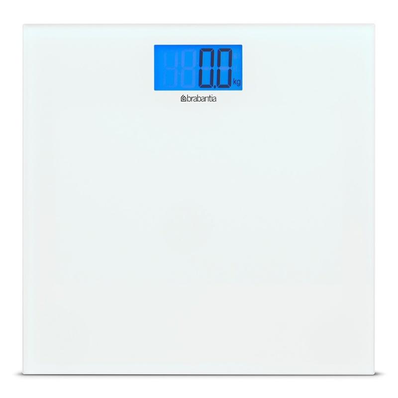 Цифровые весы для ванной комнаты на батарейках Brabantia белый