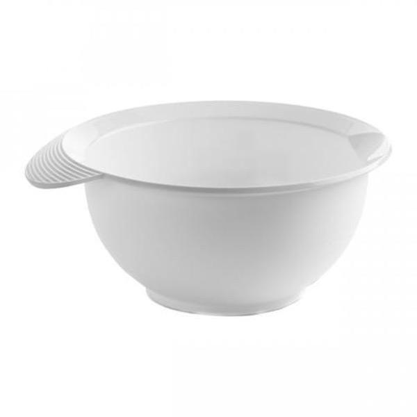 Миска для смешивания BASIC 2,5л белаяМиска для смешивания BASIC практичный и незаменимый аксессуар на кухне. Изготовлена из качественного пластика на основе полипропилена. Миски представлены в нескольких цветовых решениях.<br>