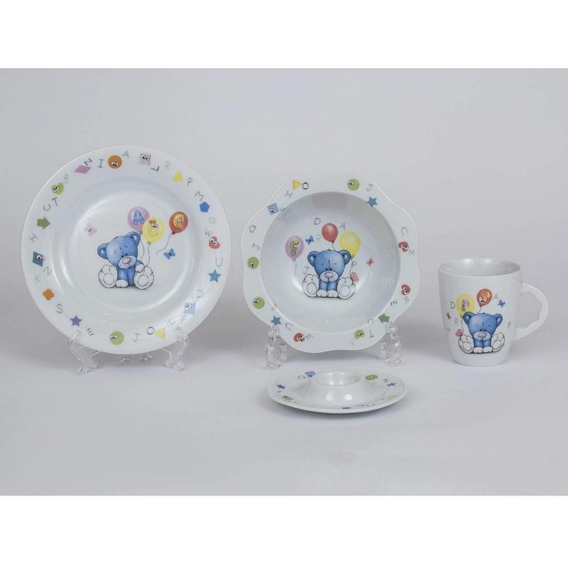 """Набор детской посуды """"Мишка с шариками"""" Cmielow"""