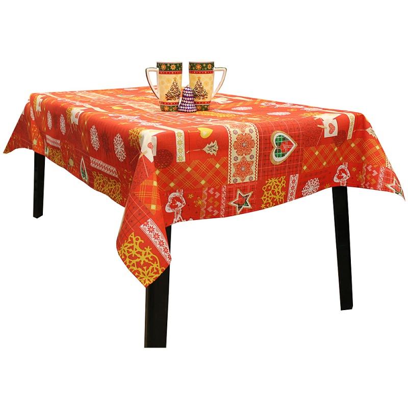 Скатерть Новогодняя на стол Х-Макс 140 х 240 см Vallepiano