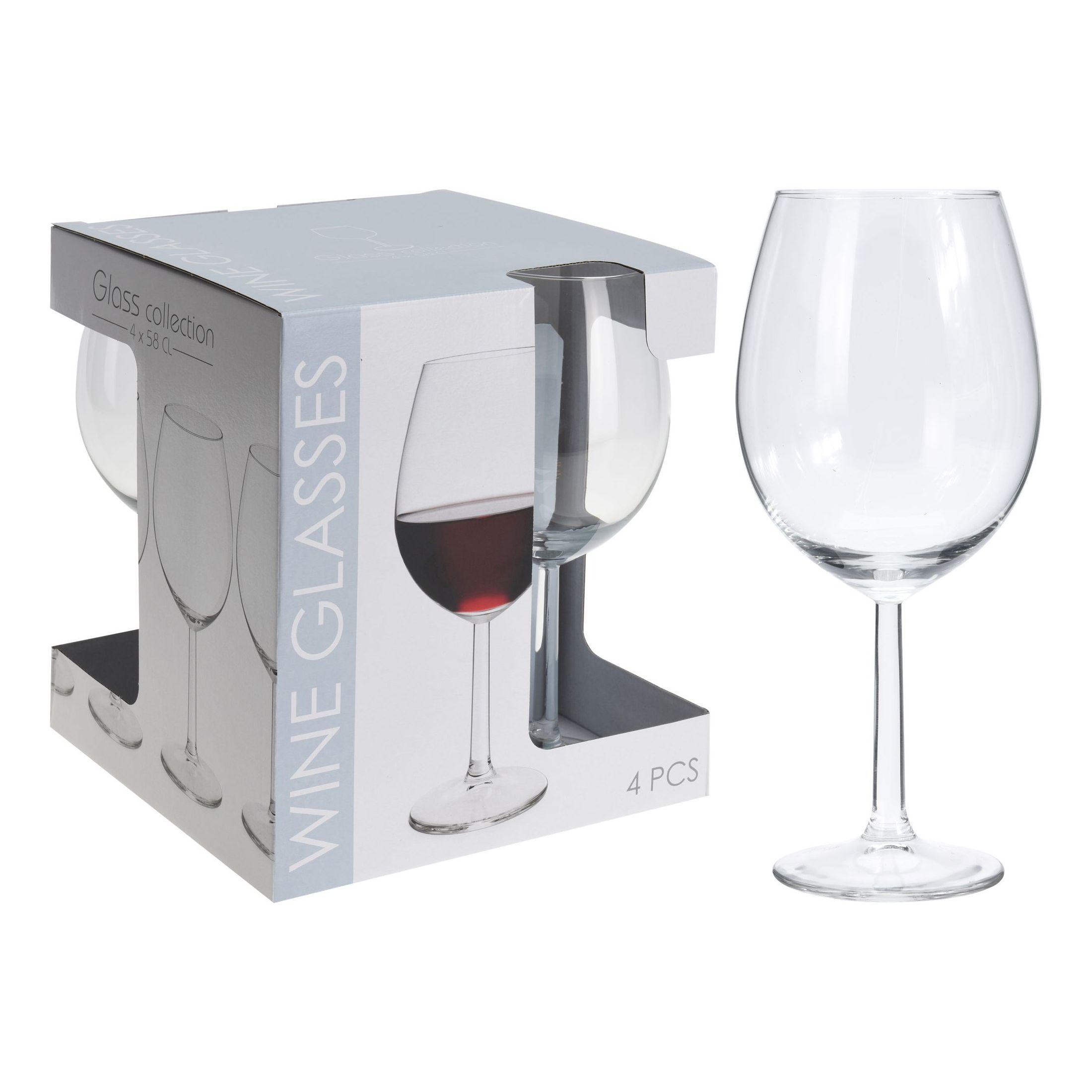 Набор бокалов д/вина 4 шт 580 мл<br>