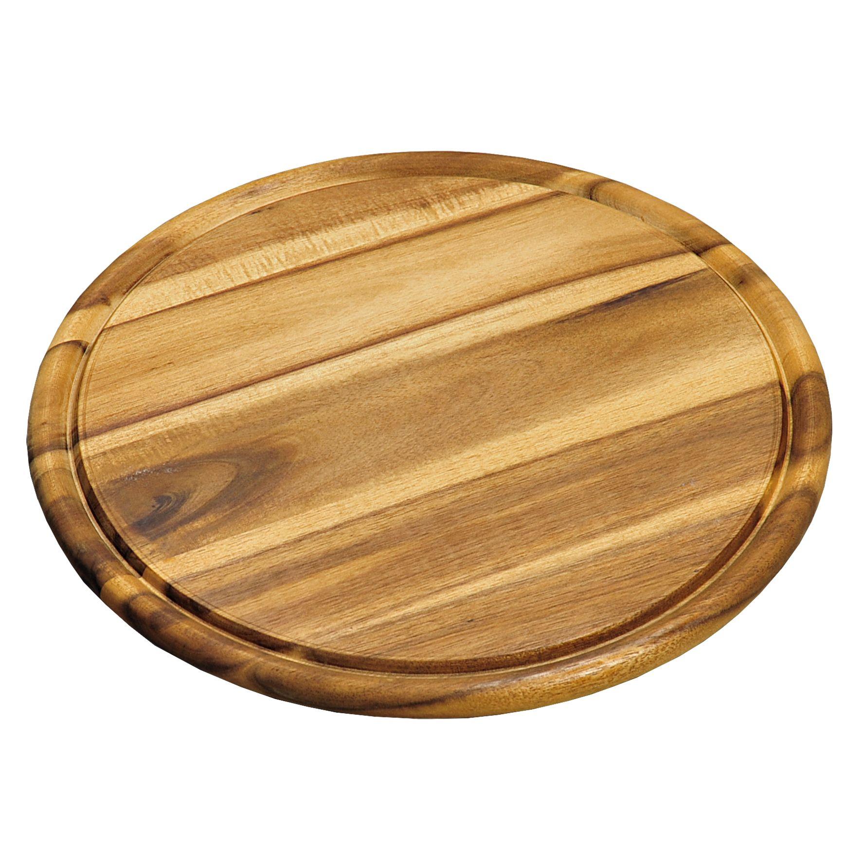 Доска подстановочная 30 см, свет.дерево   6044-4Доска круглая Кеспер изготовлена из твердого высококачественного дерева, так как с ней соприкасается наша пища. Оснащена желобком по диаметру, что удобно в использовании. Проста в использовании.<br>