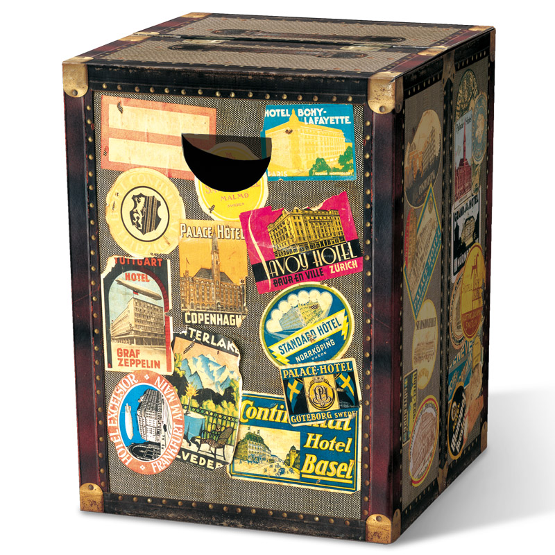 Табурет картонный сборный Remember Globetrotter