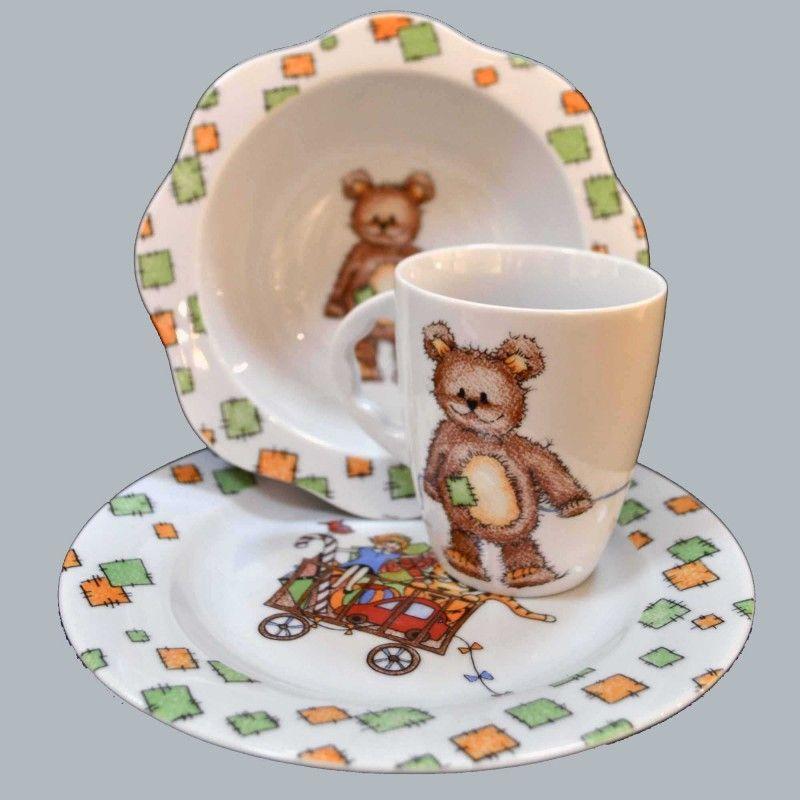 Набор детской фарфоровой посуды &quot,Мишка&quot,