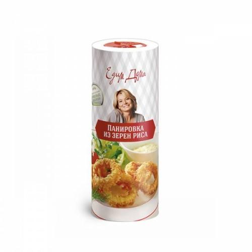 СмесьпанировочнаяПанировкарисоваяНатуральный продукт, в состав которого входят цельные зерна без искусственных пищевых добавок. Без ароматизаторов и усилителей вкуса, смесь отлично подойдет для панировки, образует хрустящую корочку, сохраняет вкус и аромат продукта.<br>