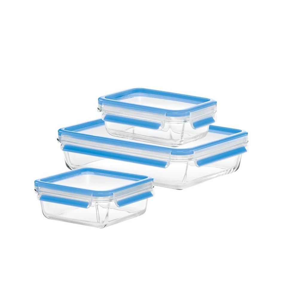 Набор контейнеров стеклянных (0,5л\0,9л,2,0л), 3 шт CLIP &amp; CLOSEМногофункциональные контейнеры различных объемов помогут каждой хозяйке. Эти емкости отлично подходят как для заморозки, так и для духовки. Они на 100% герметичны, позволяют сохранять продукты свежими надолго.<br>