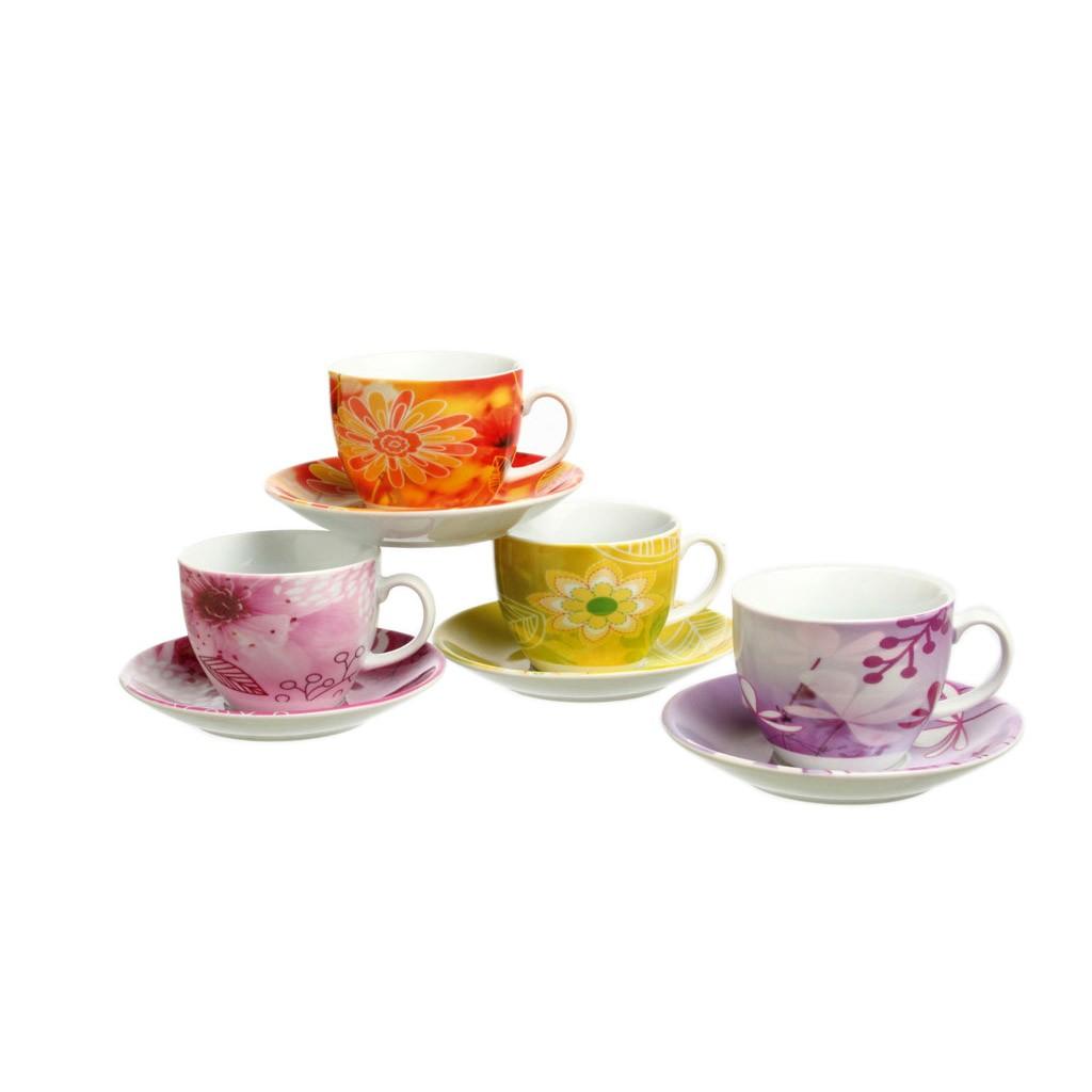 Набор чашек с блюдцами чайные 4 шт IRIS BOIS DE BOULOGNEПредставленный набор станет незаменимым для повседневного приема пищи и для сервировки праздничного стола. Изделия, входящие в набор, изготовлены из фарфора. Этот материал отличается высокой сопротивляемостью к внешним воздействиям и перепадам температуры. Вы сможете использовать набор как для горячей, так и для холодной пищи. Особенности материала исключают возникновение потертостей и царапин на поверхности, благодаря чему изделия будут выглядеть как новые даже после регулярного использования. Предметы легко очищаются при помощи любого моющего средства для посуды.<br>