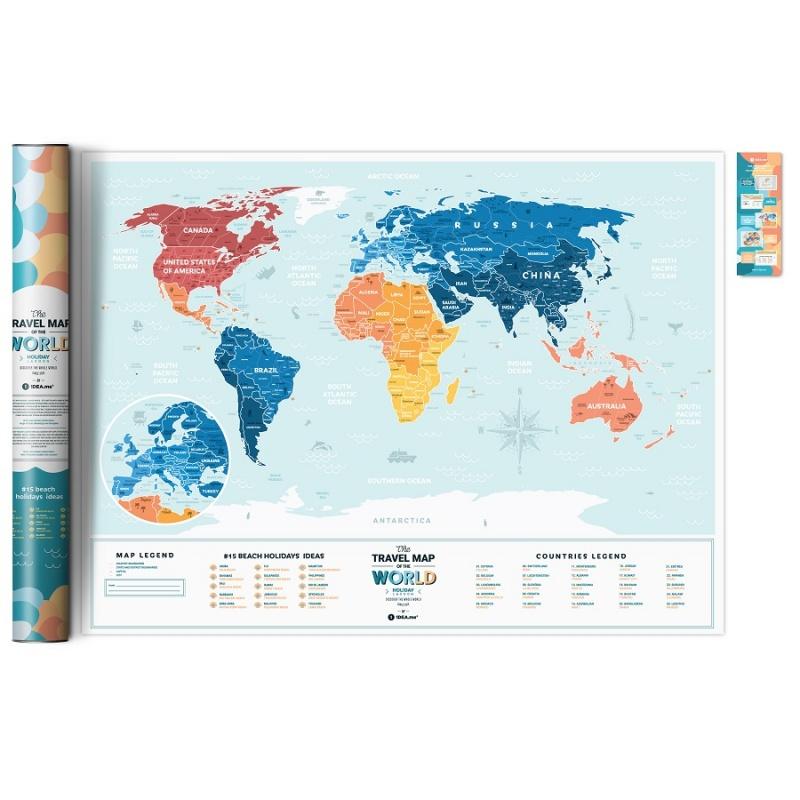 Карта Travel Map Holiday Lagoon World
