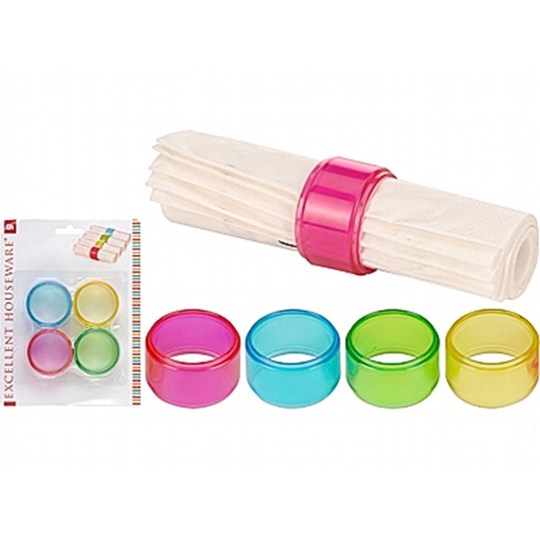 Набор колец для салфетокExcellent Houseware производит посуду и различные предметы для дома. Набор колец для салфеток - прекрасное приобретение для тех, кто любит создавать красивую и уютную атмосферу за столом.<br>