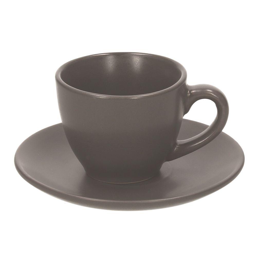 Купить со скидкой Набор чашек кофейных 110 мл. 6 шт. RUSTICAL ANTRACITE MATT