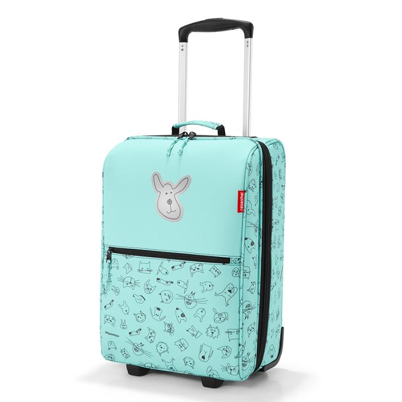 Чемодан детский Reisenthel Trolley Cats and Dogs mint