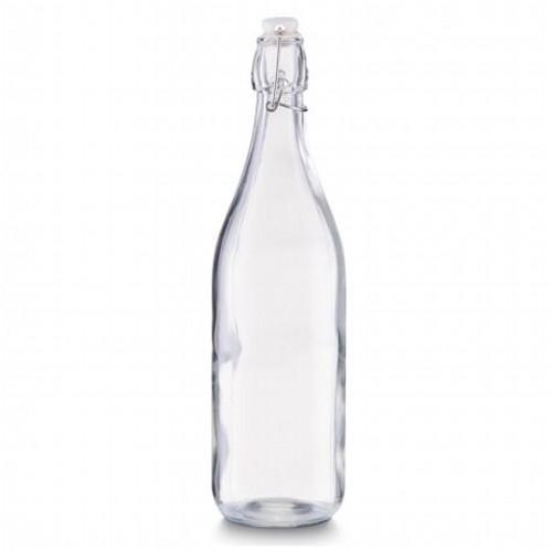 Емкость для масла и уксуса с застежкой 1л., d-8,5см. х32см, стекло стеклоЕмкость для масла и уксуса сделана из стекла, она герметичная, благодаря чему масло или уксус не выветриваются.<br>