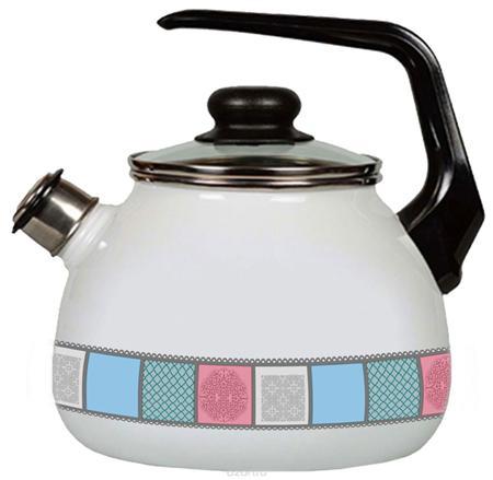 """Чайник эмалированный 3л со свистком Appetite """",Пастель"""","""