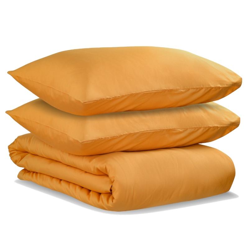 Комплект постельного белья двуспальный из сатина цвета шафрана Tkano Wild
