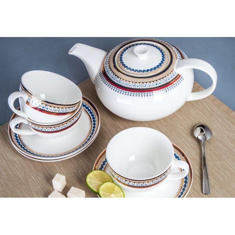 Сервиз чайный Неаполь арт 143 на 13 предмКостяной фарфор Royal Aurel отличается повышенной прочностью и стойкостью к истираниям. Подойдет как для ценителей классического, так и современного дизайна.<br>