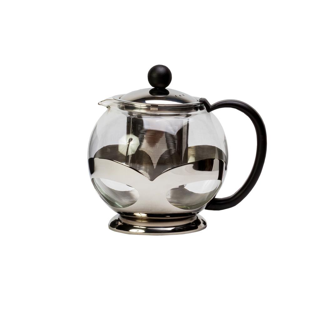 Чайник стеклянный «Моли-хэй» , с фильтром, 750млЧайник имеет интересный современный дизайн и изготовлен из прозрачного стекла. Использовать такой чайник на кухне очень удобно. Благодаря прозрачному стеклу можно насладится цветом любимого чая. Также в чайнике тепло будет сохранятся дольше, что будет особенно приятно в холодное время года.<br>