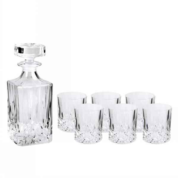 Набор для виски OPERAНабор для виски OPERA, состоящий из графина и шести стаканов, несомненно придется Вам по душе. Набор изготовлен из высококачественного хрустального стекла, с его помощью Вы можете элегантно подать и разлить виски. Превосходный набор станет украшением любого, даже самого изысканного стола.<br>