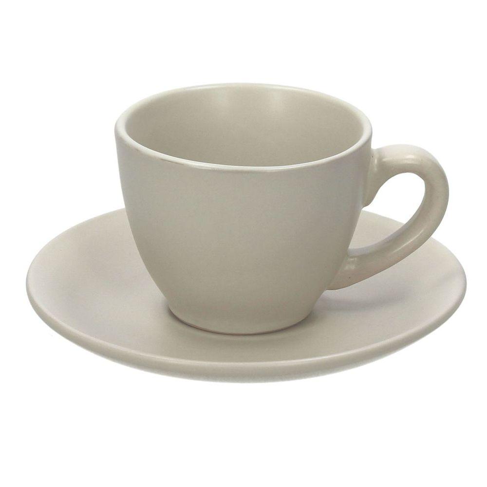 Набор чашек кофейных 110 мл 6 шт RUSTICAL BEIGE MATTНабор чашек кофейных 110 мл 6 шт RUSTICAL BEIGE MATT<br>