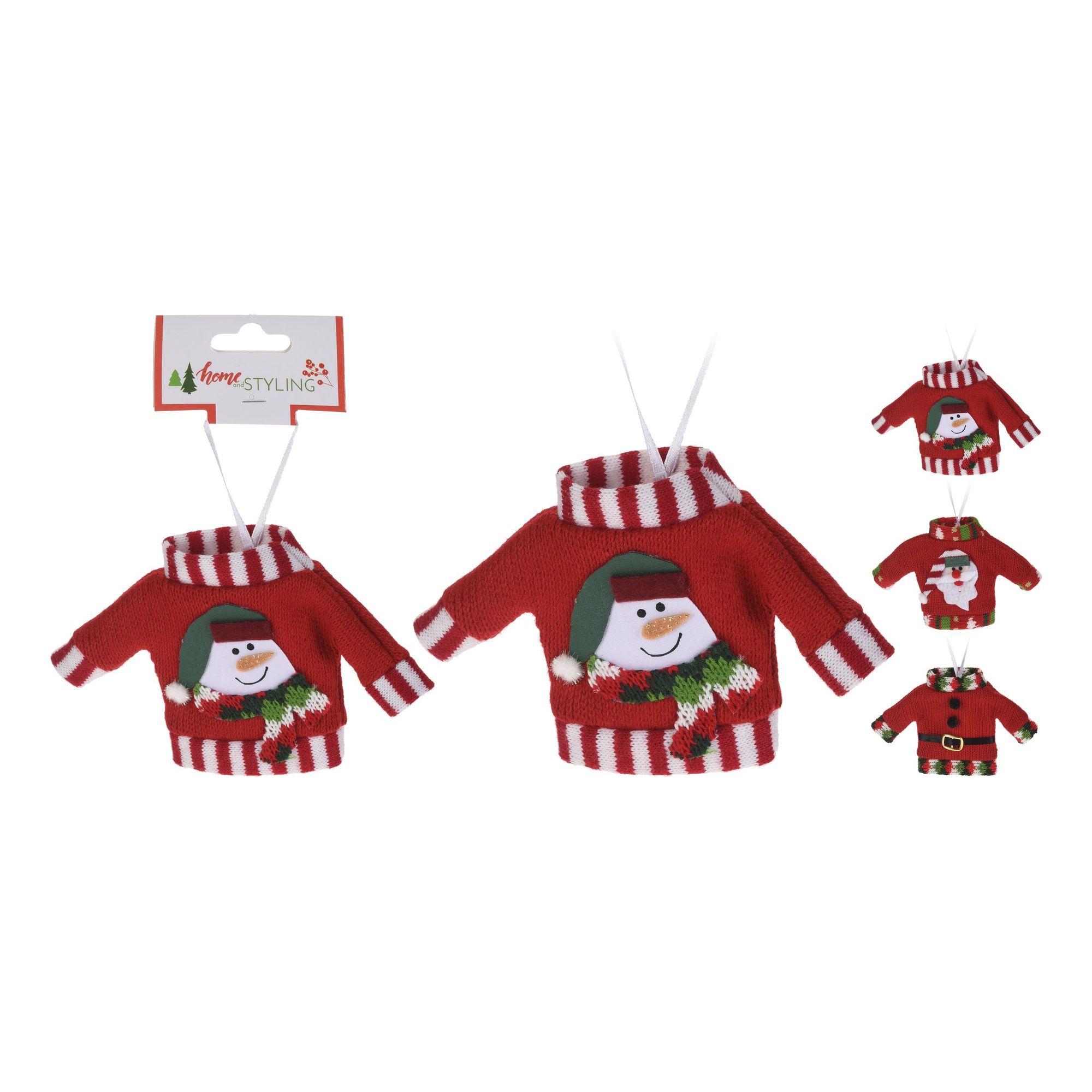 Декор подвесной Новогодняя одежка в ассортименте<br>