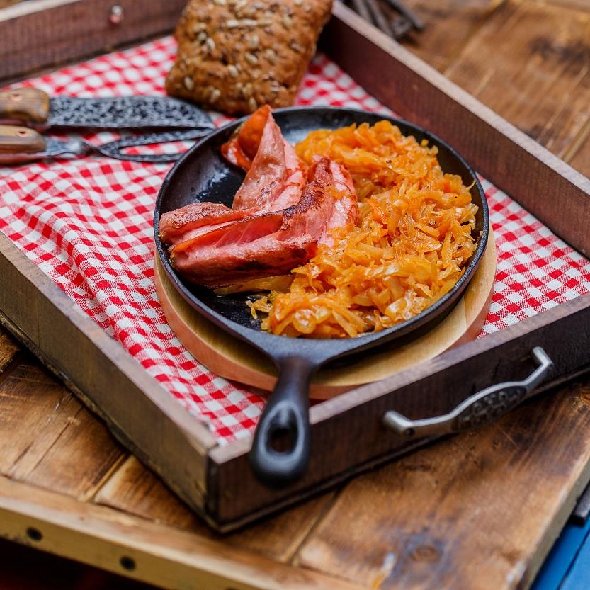 Сковорода порционная на деревянной подставке<br>