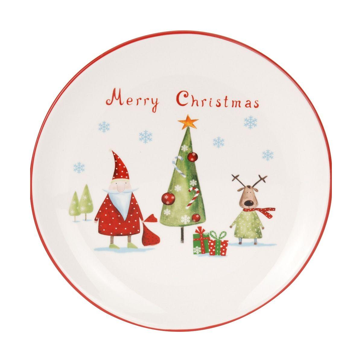 Тарелка Merry christmasтарелка Merry christmas 24см<br>