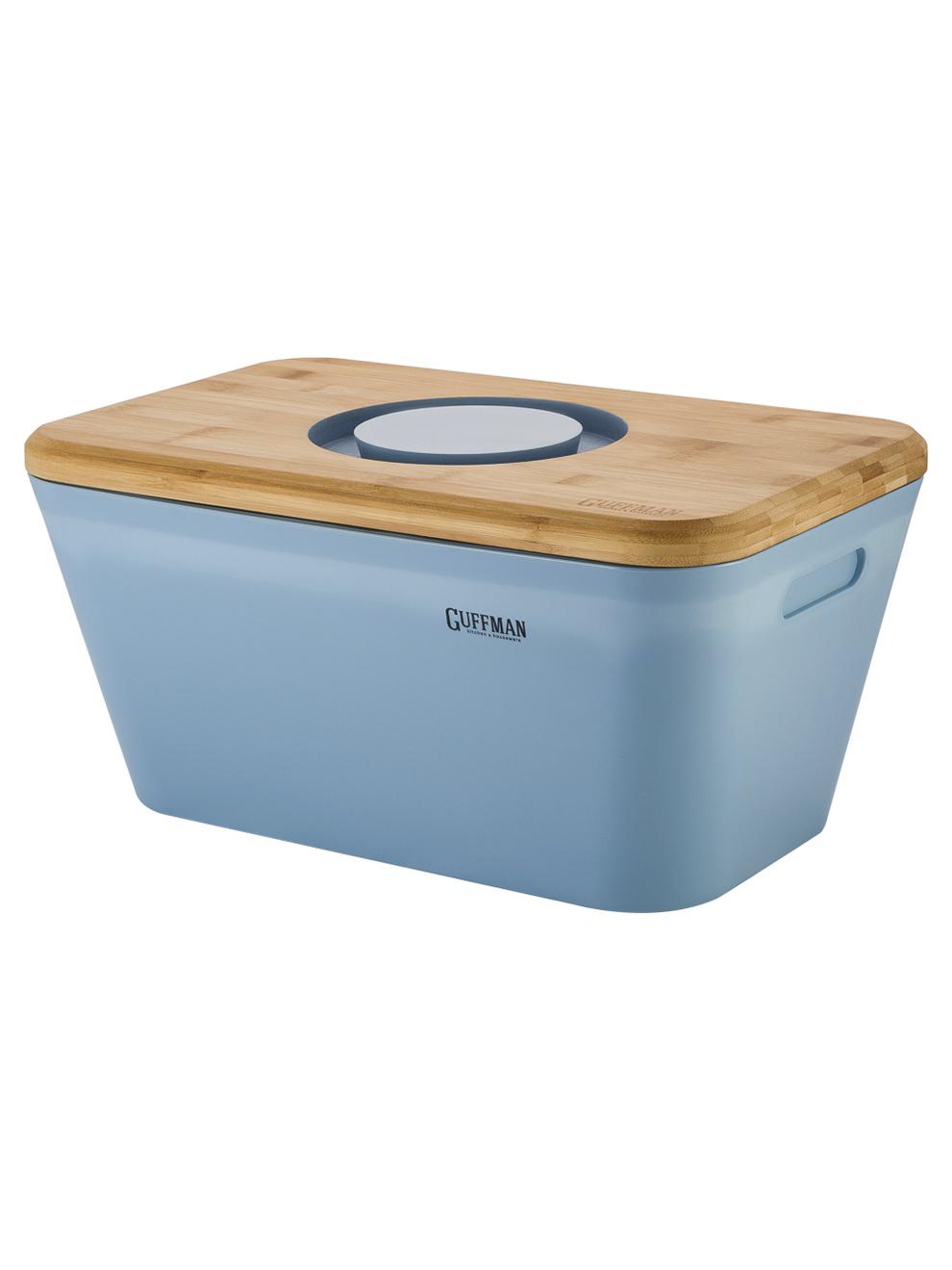 Хлебница с разделочной доской-крышкой Guffman голубая