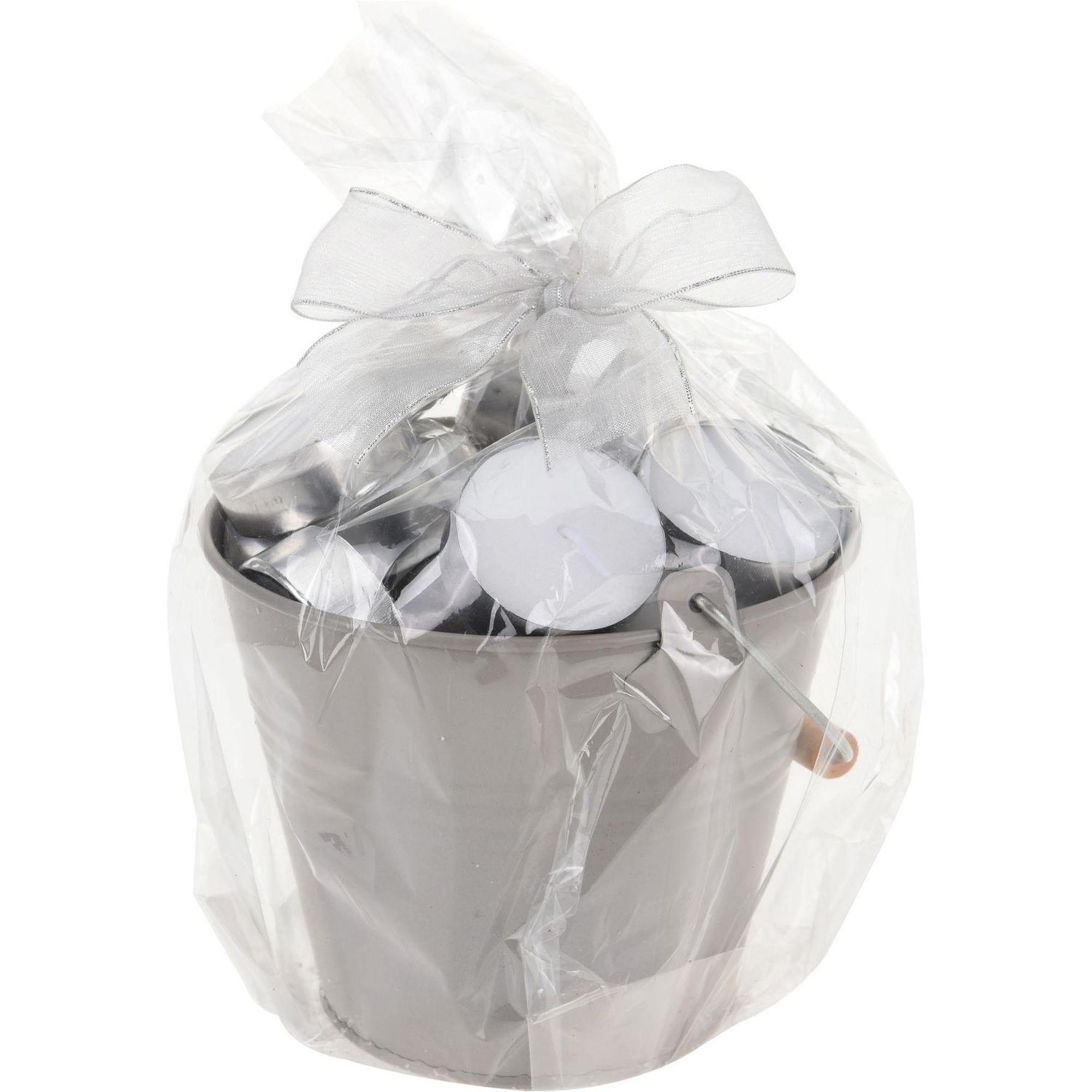 Купить со скидкой Набор свечей чайных в ведре 35 шт.