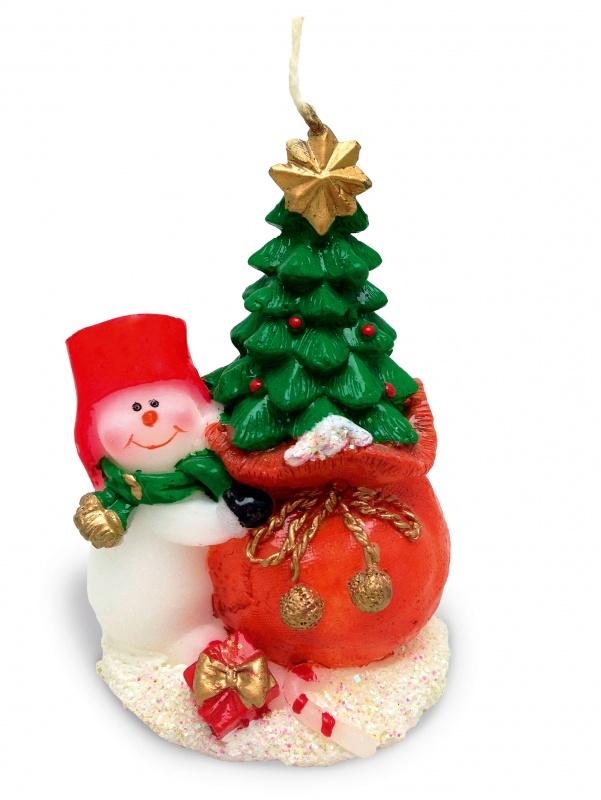 Свеча декоративная «Снеговик»