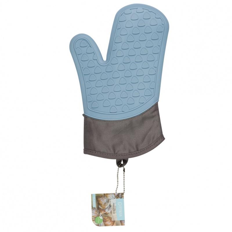 Варежка-прихватка силиконовая Guffman голубая