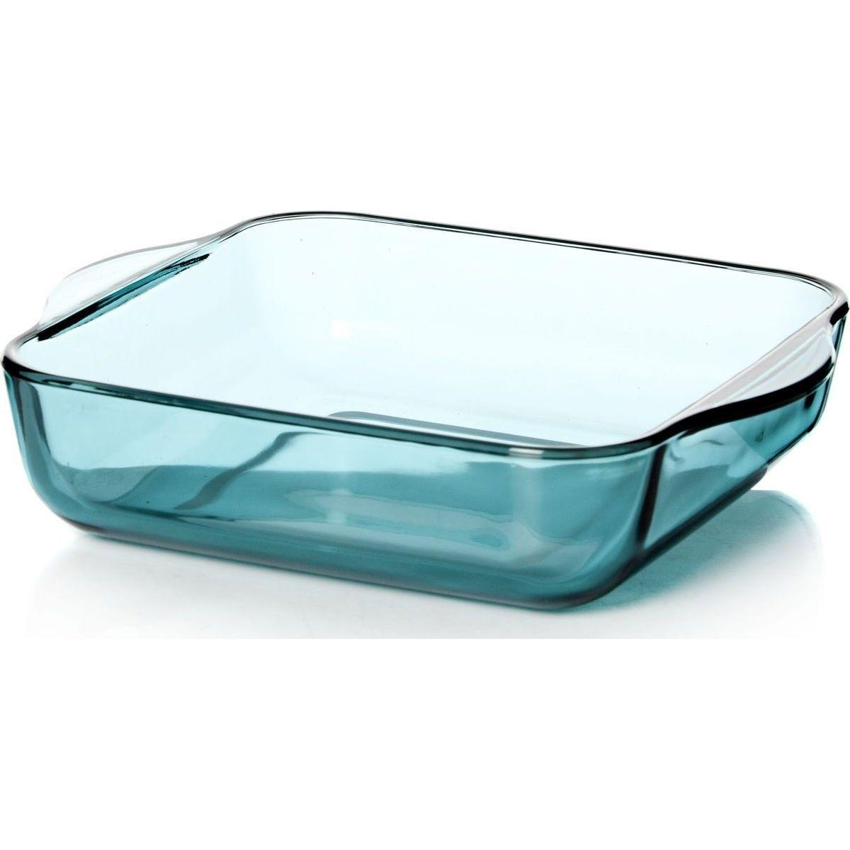 Форма д/выпечки 22х22см цв стеклоПосуда для СВЧ лоток квадратный б/крышки 220*220 мм 2 л<br>