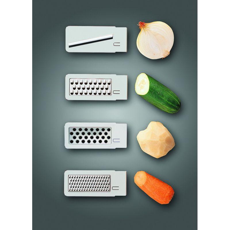 Набор для измельчения овощей 8 предметов (база терки 1 шт, контейнер 1 шт, крышка 1 шт, плододержатель 1 шт, насадки сменные 4 шт)Набор для измельчения овощей 8 предметов (база терки 1 шт, контейнер 1 шт, крышка 1 шт, плододержатель 1 шт, насадки сменные 4 шт)<br>