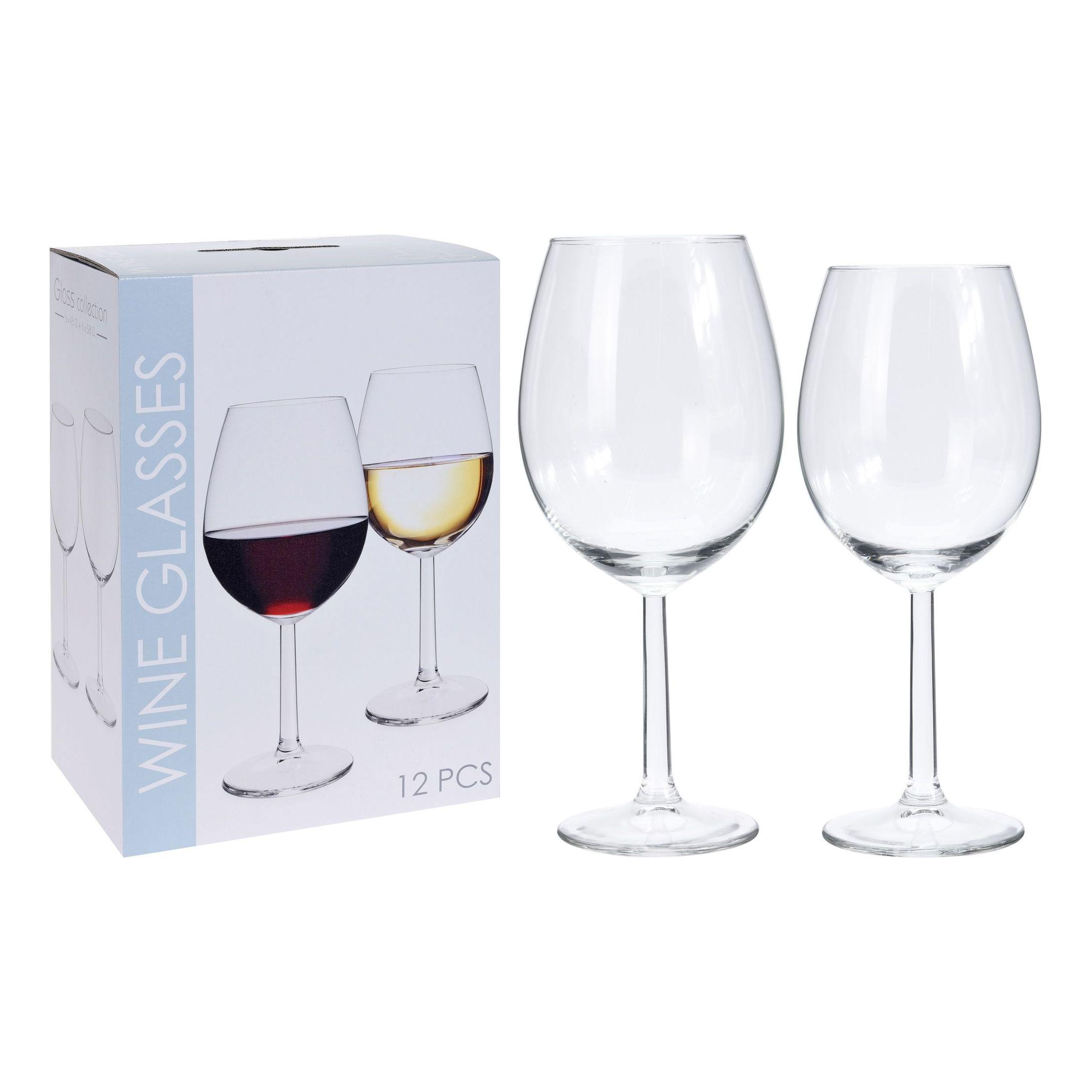 Набор бокалов для вина (6 штук для белого вина, 6 штук для красного вина)