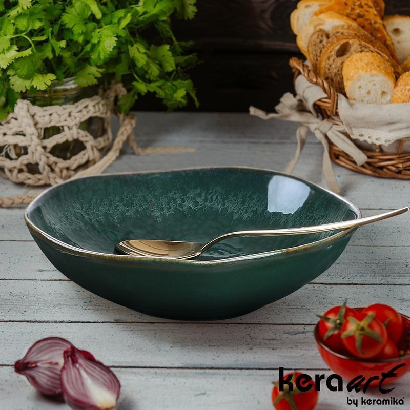 Тарелка глубокая Keramika Акварель 22 см