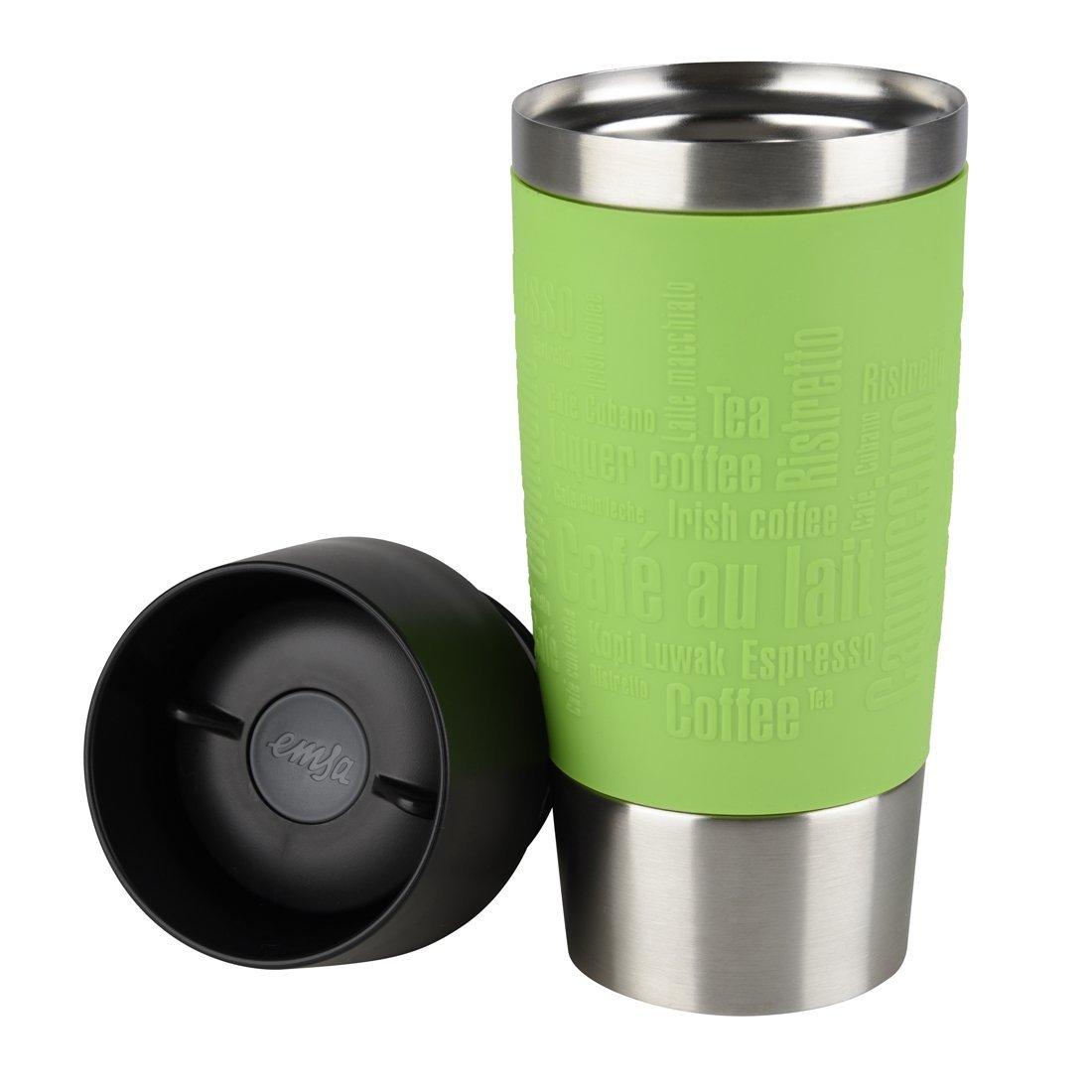 Термокружка TRAVEL MUG 0,36л зелТермокружка от Emsa - это забота о вашей семье. Она 100% герметична, сохранит тепло напитка надолго, что позволит насладиться его прекрасным вкусом в любой момент.<br>
