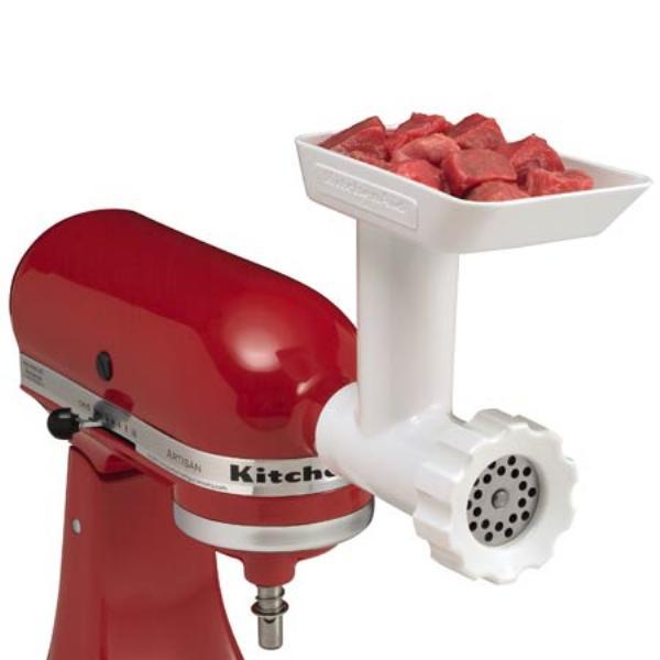 Насадка к миксеру: мясорубка Kitchen AidКачественные инструменты для приготовления еды - must have на любой кухне. Именно по этому компания Kitchen Aid создала эти принадлежности. Высококачественная нержавеющая сталь делает их долговечными помощниками для каждой хозяйки.<br>
