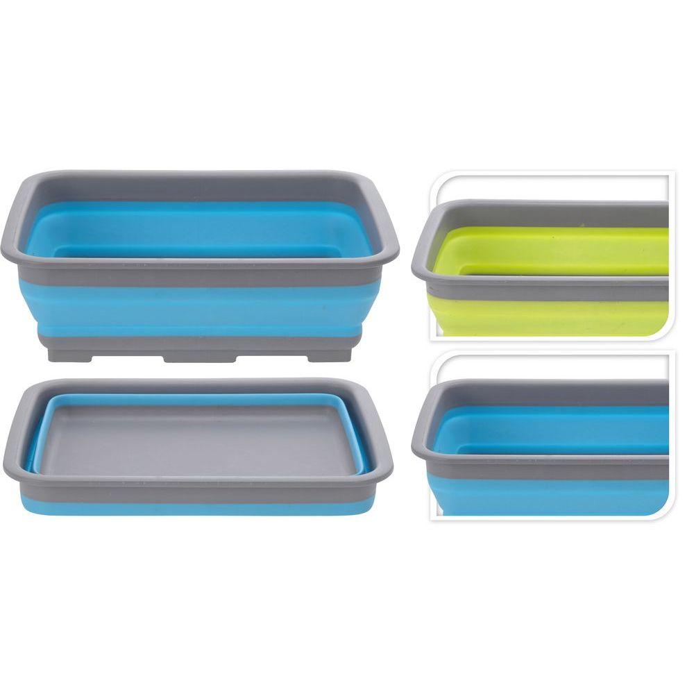Емкость д/мытья посуды складная (таз) 8 л 37*27*10 см в ассортиментеёмкость для мытья посуды (таз), ёмк. 8 л, разм. 37х27х10 см<br>