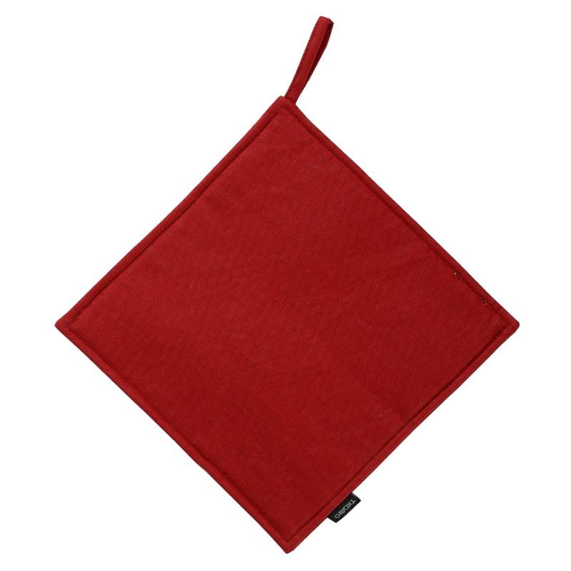 Прихватка из хлопка Tkano 22x22 см красная