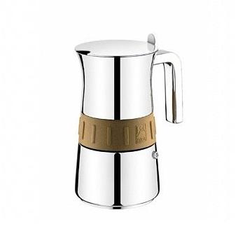 Кофеварка гейзерная на 6 чашек ELEGANCE GOLDКофеварка ELEGANCE GOLD от Pintinox поможет вам приготовить незабываемый кофе. Вы, все ваши домочадцы и гости останутся довольны вкусом кофе.<br>